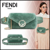 FENDI 2WAY Chain Plain Elegant Style Hip Packs
