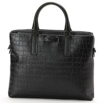 FURLA Street Style A4 2WAY Leather Business & Briefcases