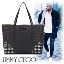 Jimmy Choo Star Studded A4 Leather Totes