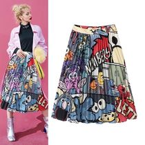 ELF SACK Street Style Medium Midi Skirts