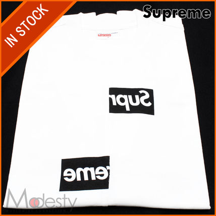 Supreme More T-Shirts Street Style Collaboration Plain Short Sleeves T-Shirts