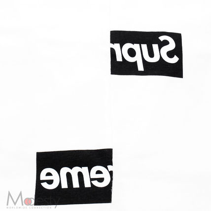 Supreme More T-Shirts Street Style Collaboration Plain Short Sleeves T-Shirts 4