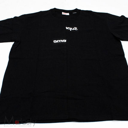 Supreme More T-Shirts Street Style Collaboration Plain Short Sleeves T-Shirts 2