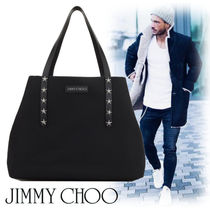 Jimmy Choo Unisex Nylon Studded A4 Totes