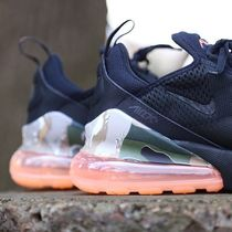 Nike AIR MAX 270 Camouflage Street Style Plain Sneakers