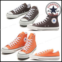 CONVERSE ALL STAR Plain Toe Rubber Sole Casual Style Unisex Street Style Plain