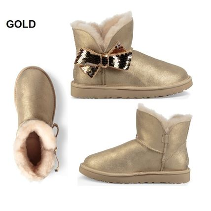UGG Australia Ankle & Booties Round Toe Sheepskin Plain Ankle & Booties Boots 2