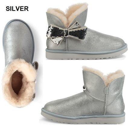 UGG Australia Ankle & Booties Round Toe Sheepskin Plain Ankle & Booties Boots 6