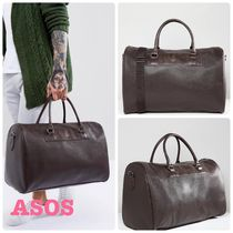 ASOS Faux Fur Street Style A4 2WAY Plain Boston Bags