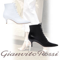 Gianvito Rossi Leather Pin Heels Elegant Style Ankle & Booties Boots