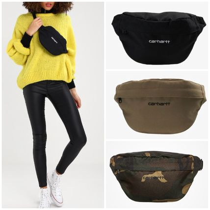 Camouflage Unisex Street Style Plain Shoulder Bags