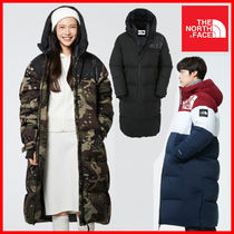 THE NORTH FACE Nuptse Camouflage Unisex Plain Long Down Jackets