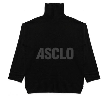 ASCLO Knits & Sweaters Street Style Long Sleeves Plain Knits & Sweaters 15