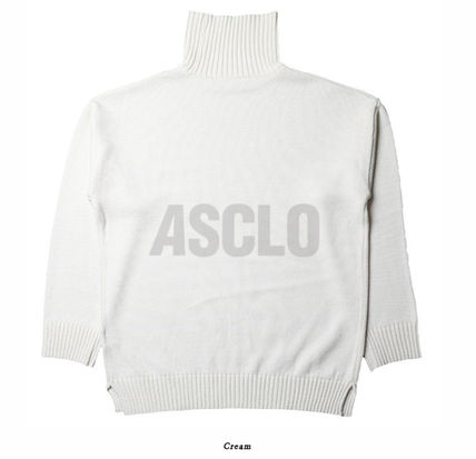 ASCLO Knits & Sweaters Street Style Long Sleeves Plain Knits & Sweaters 20