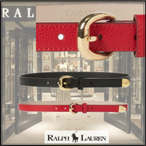 Ralph Lauren Plain Leather Special Edition Bold Belts