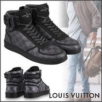 Louis Vuitton DAMIER GRAPHITE Other Plaid Patterns Blended Fabrics Street Style Bi-color