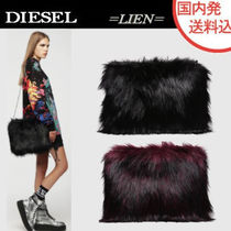 DIESEL 2WAY Chain Plain Party Style Clutches