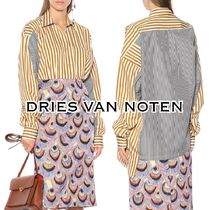 Dries Van Noten Stripes Casual Style Cotton Super-long Sleeves