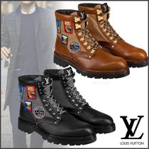 Louis Vuitton Plain Toe Mountain Boots Blended Fabrics Street Style Plain