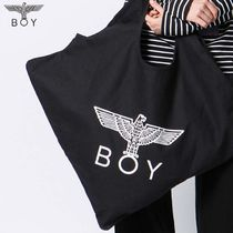 BOY LONDON Unisex Street Style Other Animal Patterns Totes
