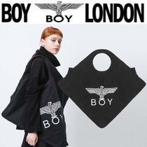 BOY LONDON Casual Style Unisex Street Style Other Animal Patterns Totes