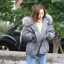 Fur Blended Fabrics Street Style Plain Medium Parkas