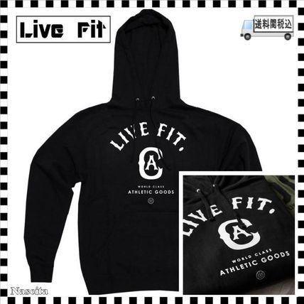 Live Fit Hoodies Pullovers Unisex Long Sleeves Plain Cotton Hoodies
