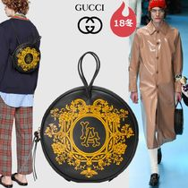 GUCCI Flower Patterns Collaboration 3WAY Bi-color Leather