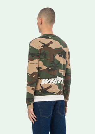 Off-White Sweatshirts Crew Neck Camouflage Street Style Long Sleeves Cotton 5