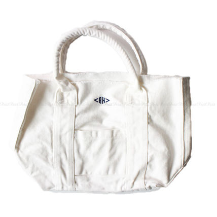 Casual Style Canvas Plain Totes