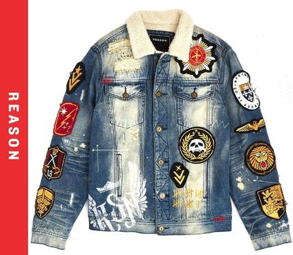 Denim Blended Fabrics Street Style Denim Jackets Jackets