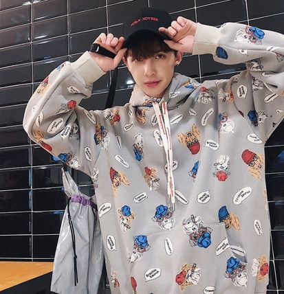 Hoodies Pullovers Street Style Long Sleeves Other Animal Patterns