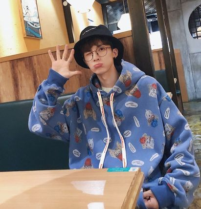 Hoodies Pullovers Street Style Long Sleeves Other Animal Patterns 3