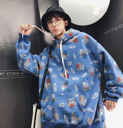 Hoodies Pullovers Street Style Long Sleeves Other Animal Patterns 4
