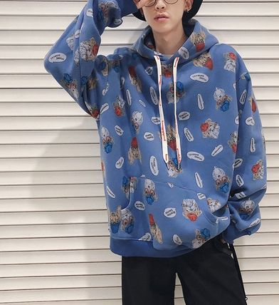 Hoodies Pullovers Street Style Long Sleeves Other Animal Patterns 6