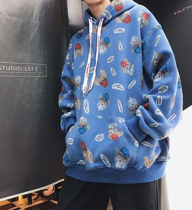 Hoodies Pullovers Street Style Long Sleeves Other Animal Patterns 8