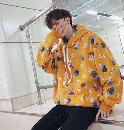Hoodies Pullovers Street Style Long Sleeves Other Animal Patterns 11
