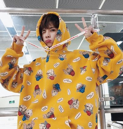 Hoodies Pullovers Street Style Long Sleeves Other Animal Patterns 14