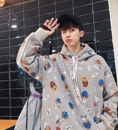 Hoodies Pullovers Street Style Long Sleeves Other Animal Patterns 17