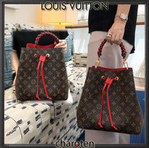 Louis Vuitton NEONOE Monogram Canvas Blended Fabrics Tassel 3WAY Bi-color