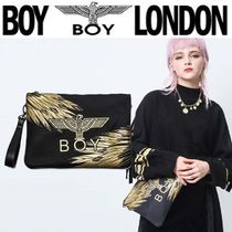 BOY LONDON Unisex Street Style 2WAY Other Animal Patterns Clutches