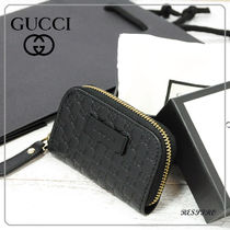 GUCCI Monogram Leather Coin Cases