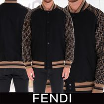 FENDI Short Wool Varsity Jackets