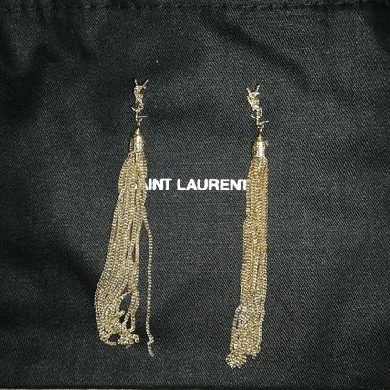 Saint Laurent LOULOU Casual Style Tassel Chain Party Style Brass With Jewels