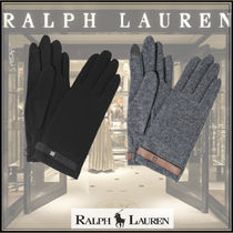 Ralph Lauren Wool Blended Fabrics Plain Special Edition Elegant Style
