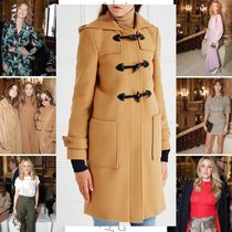 Stella McCartney Wool Plain Elegant Style Duffle Coats
