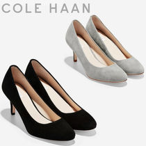 Cole Haan Casual Style Suede Plain Pin Heels Pointed Toe Pumps & Mules