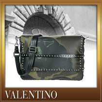 VALENTINO Camouflage Studded Street Style 2WAY Other Animal Patterns