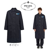 PRADA Plain Long Chester Coats