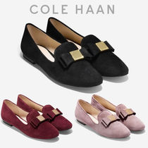 Cole Haan Round Toe Rubber Sole Casual Style Suede Plain